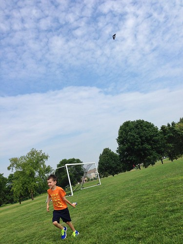 Bike riding and kite flying