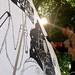Krisjan aan het werk in de zon @ HAND Festival