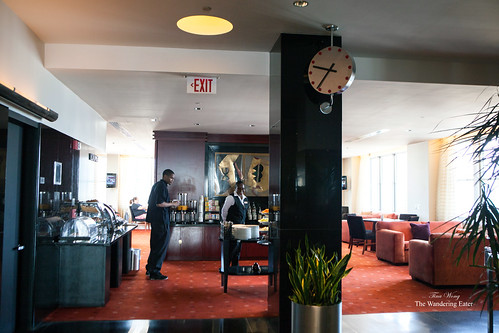 The Club Lounge and a Art Deco Cartier clock