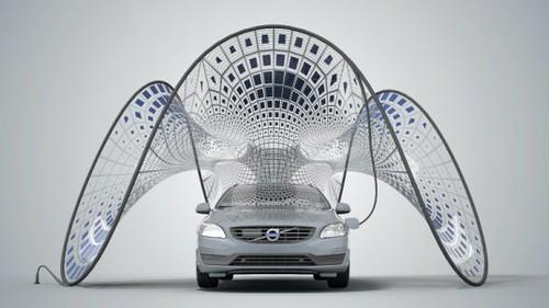 SDA показала навес с солнечными батареями для подключаемого гибрида Volvo V60