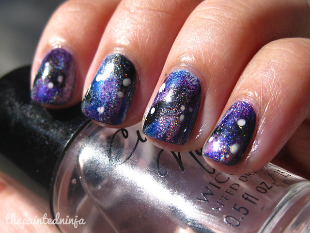 galaxy nail art by the painted ninja