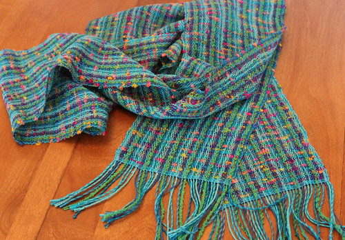 second scarf from the mixed warp