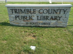 Trimble County Library sign