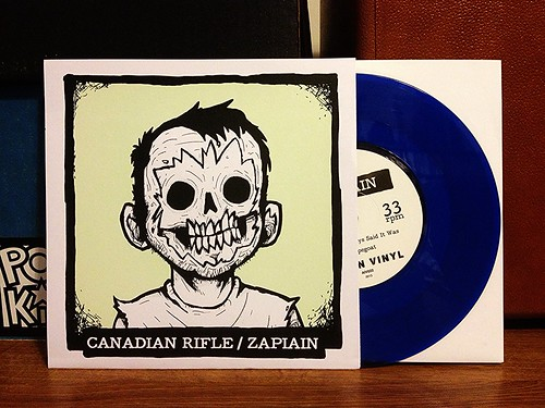 "Canadian Rifle / Zapiain - Split 7"" - Blue Vinyl (/100) by Tim PopKid"