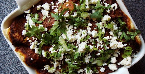 Vegetarian Bean Enchiladas