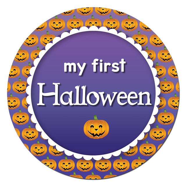 Halloween milestone sticker