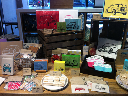 Vitamini display at the Etsy Pop-Up Shop at West Elm Palo Alto