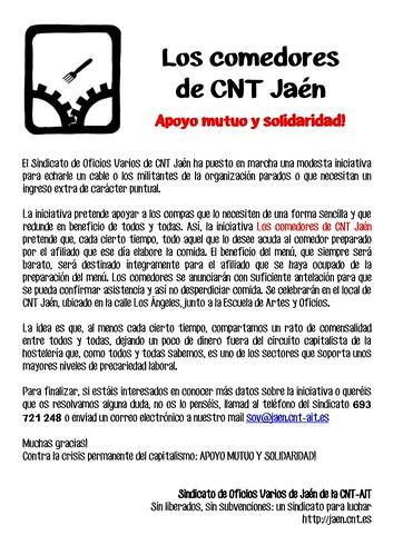 Los comedores de CNT Jaén