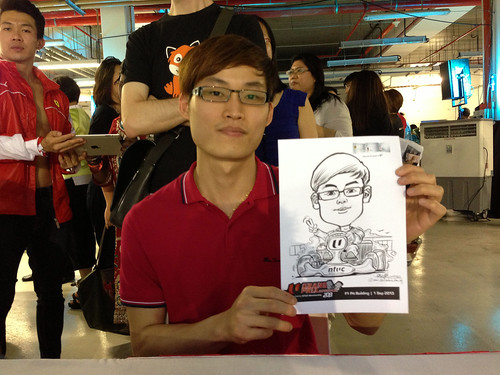 caricature live sketching for NTUC U Grand Prix Experience 2013 - 30