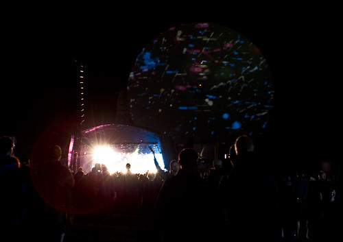 Sigur Ros performing under the Lovell Telescope 2013