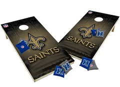 New Orleans Saints Custom Cornhole Boards XL