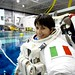 First time in the EVA suit by AstroSamantha