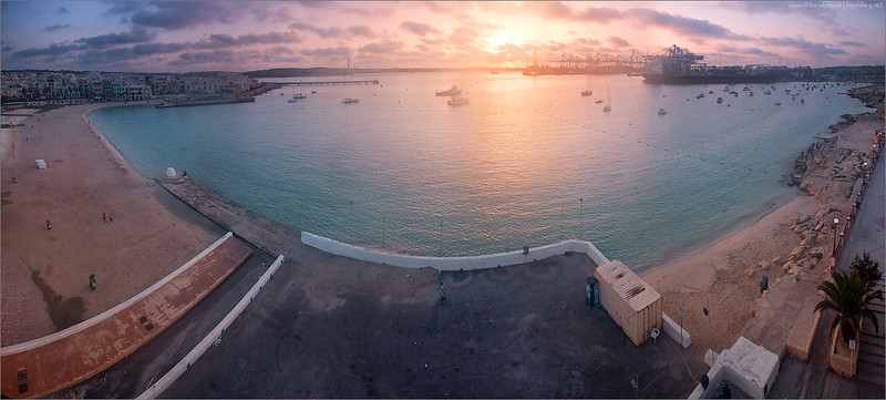 Sunrise over St Georges's Bay
