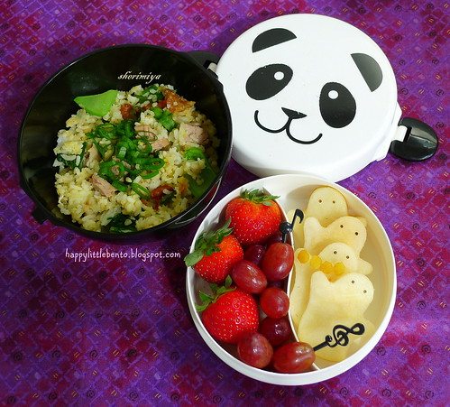 Duck Fried Rice Ghost Halloween Bento Bowl by sherimiya ♥