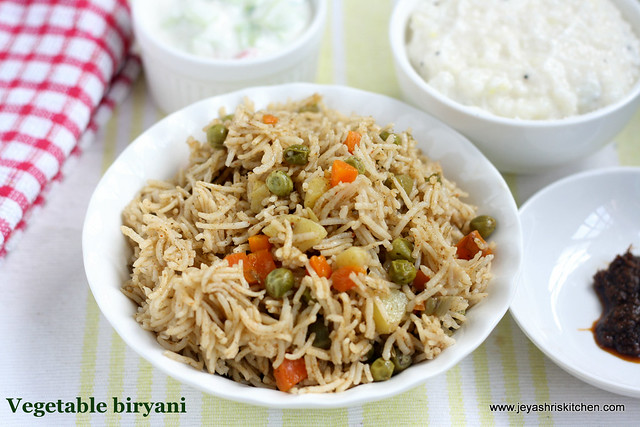 Vegetable- biryani