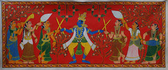 Cherial (Cheriyal) Scroll Painting