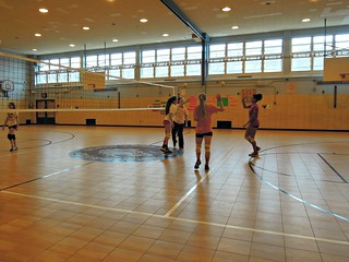 girls volleyball practice Scholars' Academy