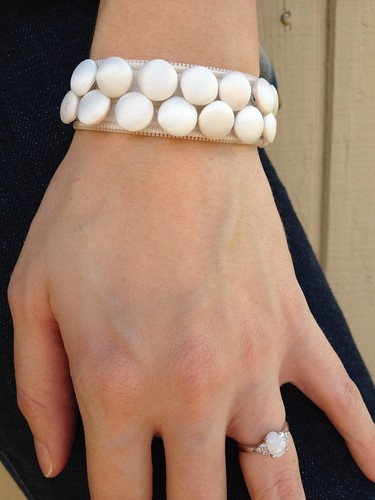 Zipper and Button Bracelet