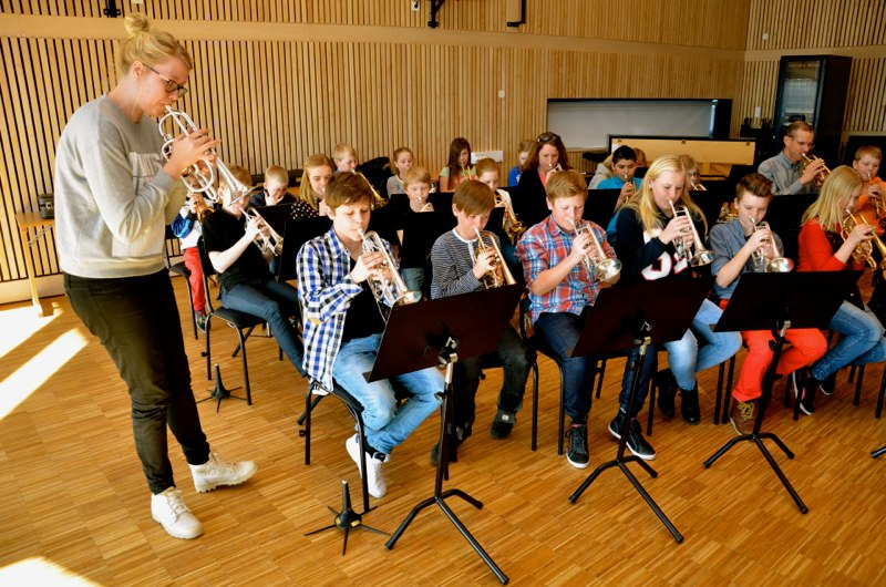 Lilla Brassbandfestivalen 2013 - Matilda Forsberg stämrepar med kornetterna