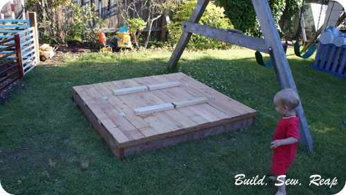 Sanbox lid and benches 11