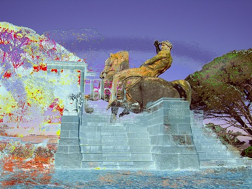 Rhodes Memorial Energy Horse web - digital abstract art prints andre pillay cape town south africa by andréart