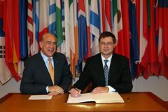 Valdis Dombrovskis, Prime Minister of Latvia visits the OECD
