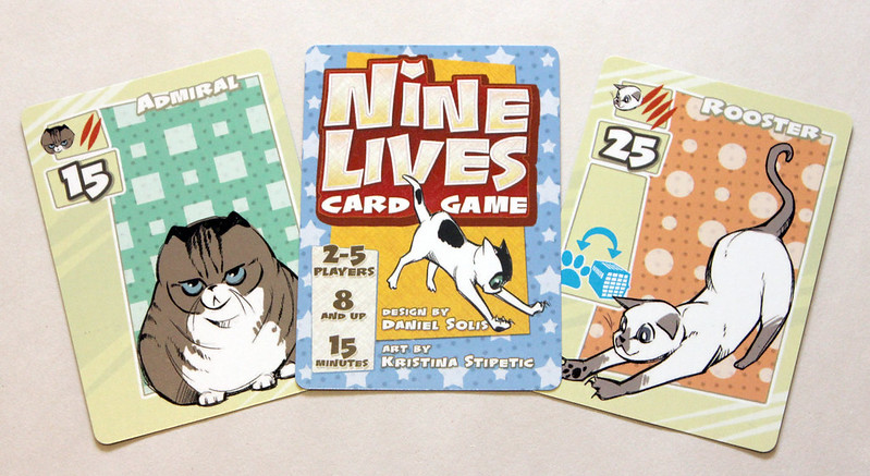 Sample card from NINE LIVES CARD GAME