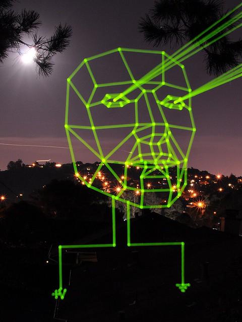 Low Poly Circuit Night Sky Light Painting