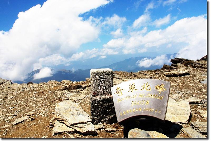 奇萊主山北峰一等三角點(Elev. 3607 m)