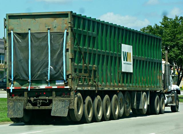 Waste Management Transfer Truck, Panasonic DMC-ZR3