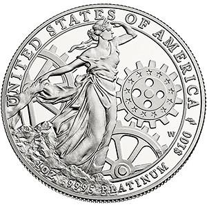 2013 $100 Platinum reverse