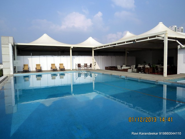 Swimming Pool on the top terrace of Ramee Grand Hotel - 94.3 Radio One Pune  'Dream Property Expo' - Pune Property Exhibition - 30th November & 1st December 2013 at Ramee Grand Hotel, Apte Road, Pune