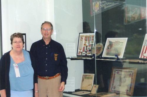 Janes and Russ Sears at Fort McHenry exhibits