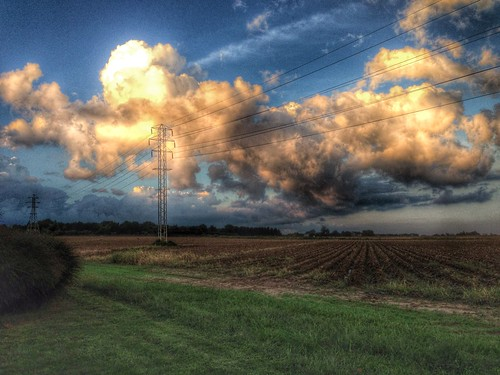 sunset sky beautiful field sunrise amazing horizon hdr