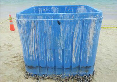 waste containment, waste container, plastic, blue,
