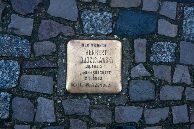 Stumbling stone, Scheunenviertel, Berlin
