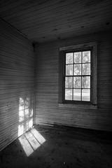 sun in an empty room