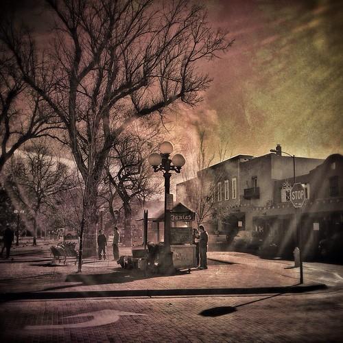 Santa Fe Plaza. Winter Morning Fajitas.