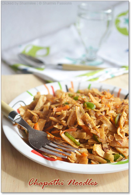 Chapati Noodles Recipe