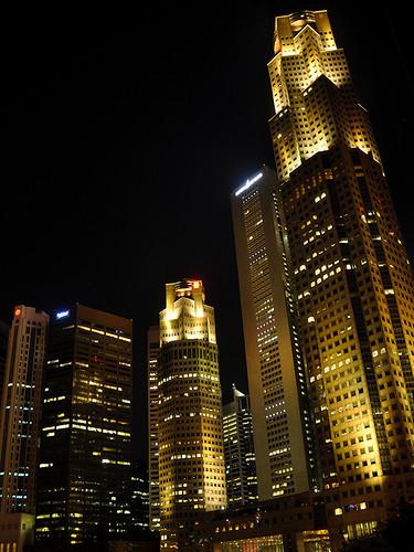 Singapore - UOB Towers at Night