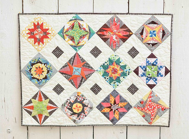 Lucky Stars block of the month finished quilt