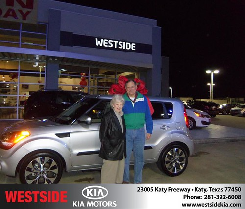 Happy Anniversary to Katherine Bryant on your 2013 #Kia #Soul from Rubel Chowdhury  and everyone at Westside Kia! #Anniversary by Westside KIA