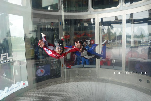 Indoor Skydiving at ifly, singapore