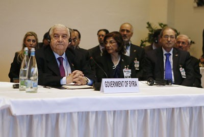 The delegation of the Syrian Arab Republic to the Geneva II talks on resolving the security crisis inside the Middle Eastern state. No agreements were reached. by Pan-African News Wire File Photos