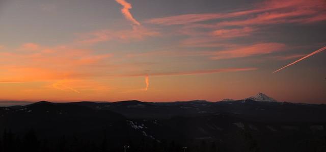 Sunrise at Timberline Lodge