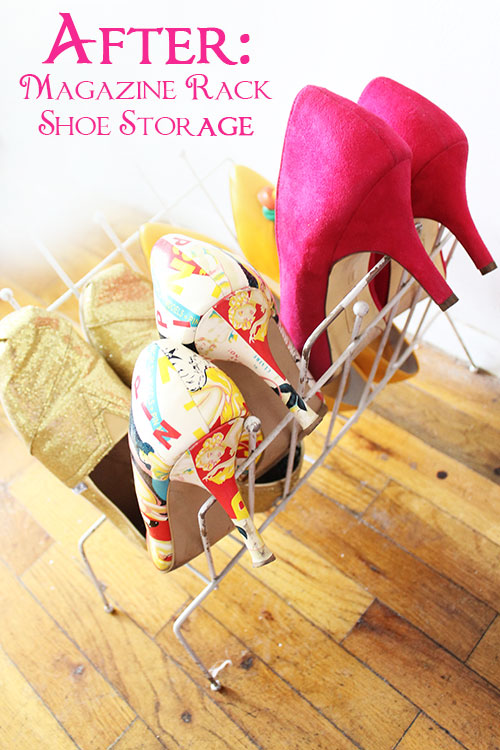 Magazine Rack Shoe Storage
