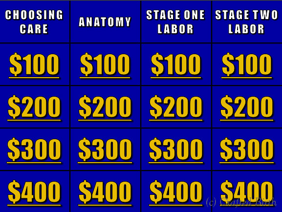 Jeopardy Review Gam - Board
