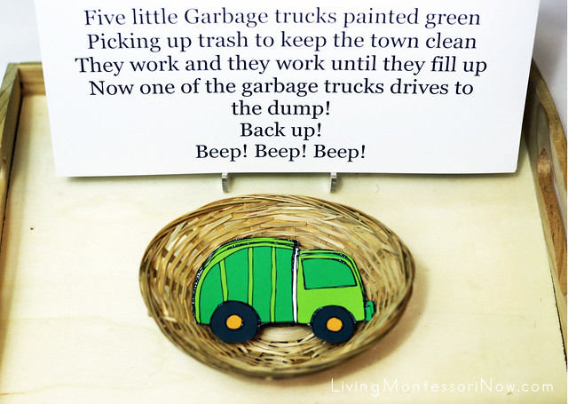 Five Little Garbage Trucks Activity