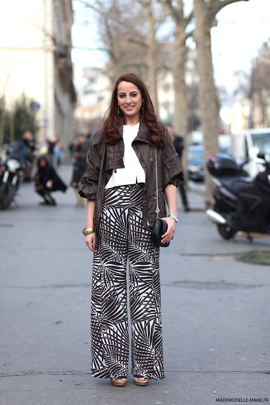 Sofia street style at Paris fashion week
