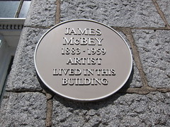 Photo of James McBey yellow plaque